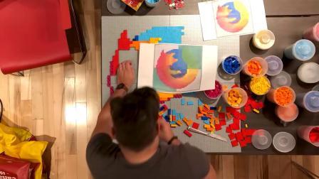 Firefox LEGO-Firefox 新 Logo
