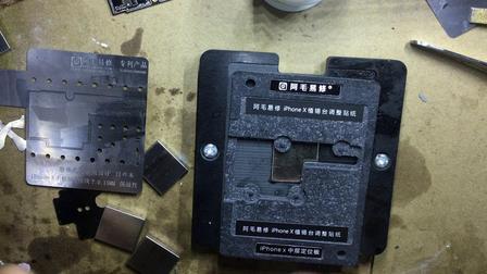 阿毛易修苹果iphone X 磁性植锡平台使用视频 中层板植锡