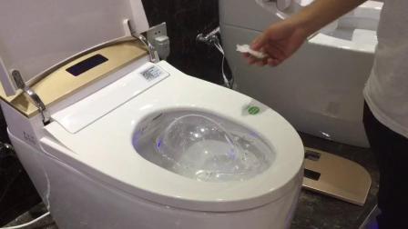 约汉保罗卫浴智能马桶988a脚触翻盖,手势感应功能操作功能视频
