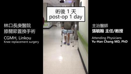 林口长庚医院-膝关节置换手术 (术后一天)