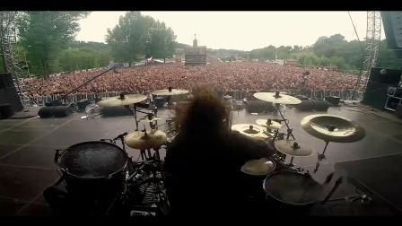 Miloš Meier-Masters of Rock 2017-Dymytry drum solo