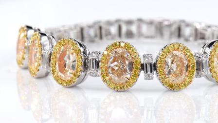 #JCBF05385174# 黄钻 钻石手链