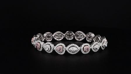 #JCBF05390285# 粉钻 钻石手链