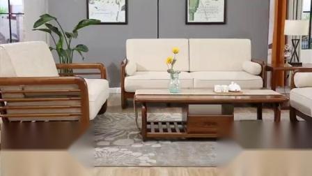 带点中国味的北欧时尚~可比优居北欧白蜡木沙发