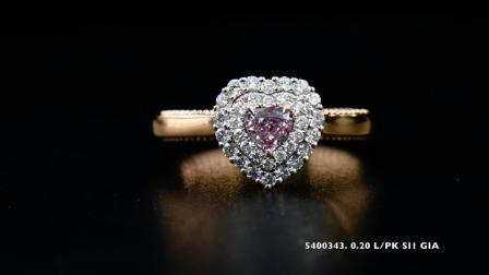 #JCRF05400343# 0.20克拉粉钻戒指