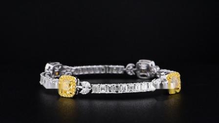 #JCBF05403665#总重15.38克拉 黄钻手链