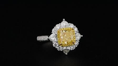 #JCRF05397826# 1.54克拉黄钻戒指