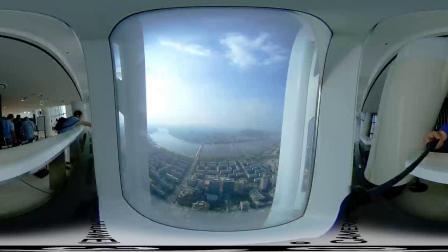 登上韩国乐天大厦555米高楼VR视频