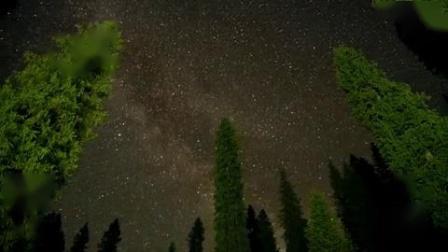 我在草原宝马 森林星空截了一段小视频