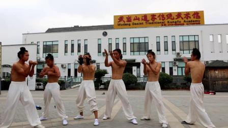武当山道家传统武术馆武术班实战训练片段