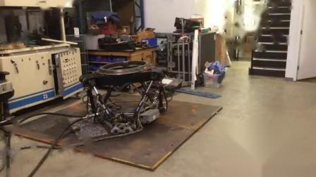 机械运动,六自由度+旋转平台