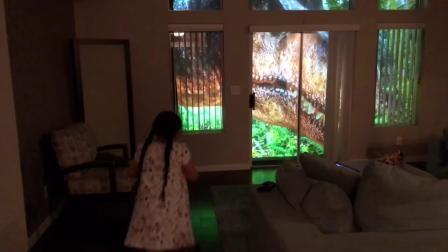 """厉害了!这位老爸竟然给女儿搭了个""""恐龙庄园"""""""