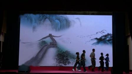青岛职工武协筹备会武术队,庆祝八一建军节91周年演出。
