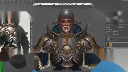 3D游戏模型制作高级盔甲模型绘制1