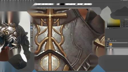 3D游戏模型制作高级盔甲模型绘制3