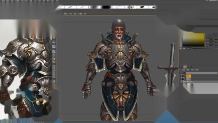 3D游戏模型制作高级盔甲模型绘制4
