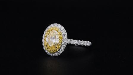 #JCRF05393876#1.42克拉 黄钻戒指