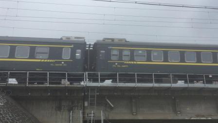 T382次 HXD1D0124 诸暨站附近拍车