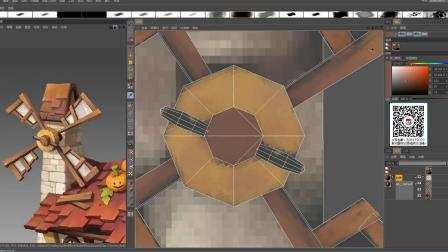 3D游戏模型场景模型制作绘制2
