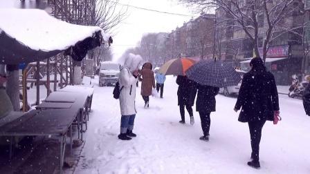 辽宁朝阳市双塔区2018年雪景(手机拍摄)