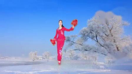 我在临安灵溪广场舞请到东北来(欢快的秧歌手绢舞)截了一段小视频