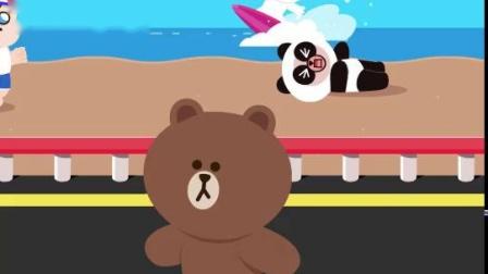 滑板布朗熊