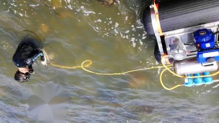水面供气系统下水试机