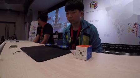 小南亚锦赛三阶决赛平均6秒65,亚洲冠军!使用魔方:Valk3 M