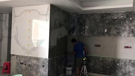 虎门龙泉豪苑,原厨房满贴大理石,光线效果不好,现在换瓷砖