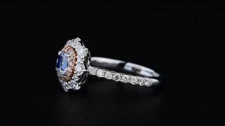 #JCRF05111009#1.57克拉 蓝钻戒指
