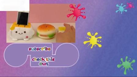 抗应激球智能手机持有人汉堡钥匙链