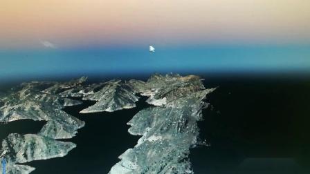 航测服务 无人机服务 山东正方航空 水库大面积倾斜摄影点云数据展示 无人机航测
