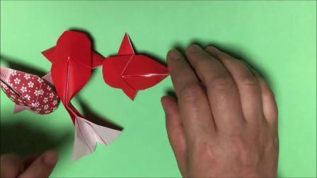 【折纸教程】炒鸡萌的金鱼折纸教程