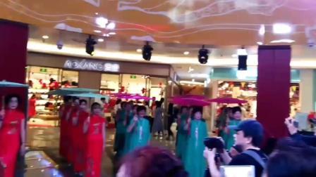 宜昌水悦城300旗袍佳丽表演大型旗袍秀《唐人绣》