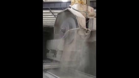 液压锁紧柱式切石机加工综合视频