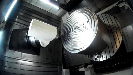 台湾新卫五轴加工中心UMC-1600切削视频