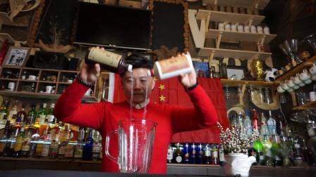 调酒冠军于洋老师祝祝福国成立69周年