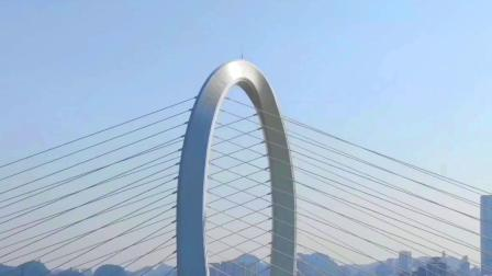 """""""柳州之门""""白沙大桥—迄今世界最高、跨度最大的反对称结构斜拉桥"""