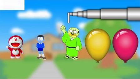 用气球敲打颜色的彩铃