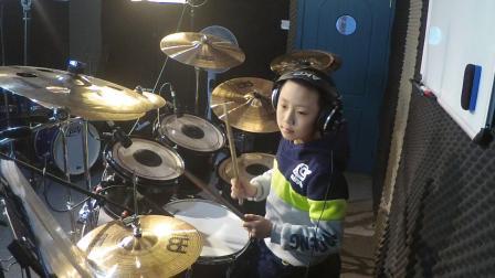 尹新宇 Drum Cover 像风一样自由 架子鼓