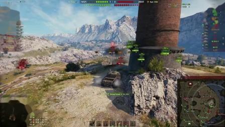 坦克世界杀戮时刻 百夫长AX  5杀 10K输出