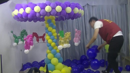 气球旋转木马、旋转风车、旋转摩天轮制作视频教程5