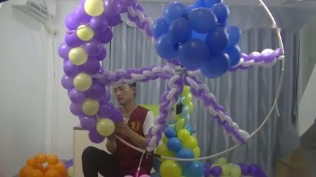 气球旋转木马、旋转风车、旋转摩天轮制作视频教程1
