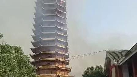 世界最高木结构宝塔未完工就被焚毁