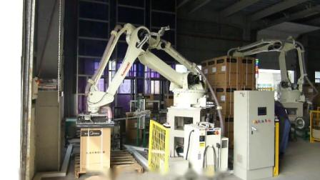 川崎机器人热水器纸箱单箱码垛