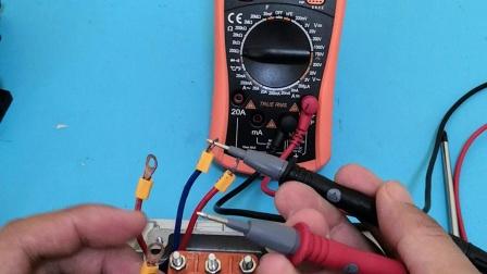 三相电机测量好坏及分首尾