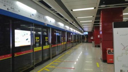 广州地铁二号线 A5 08X131 132 石壁下行进站