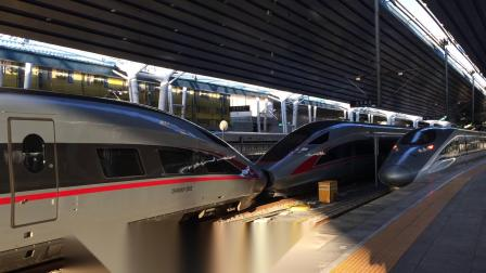 G89车底(0G90次)列车进入北京西站,复兴号CR400AF