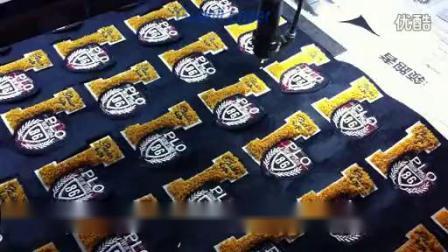 刺绣标签CCD激光切割机
