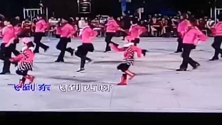 吴川市塘缀镇龙安舞蹈队(花蝴蝶)出队马龙埇二O一六年正月初三
